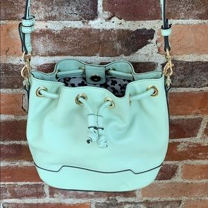 Baby blue Rebecca Minkoff Fiona bucket bag